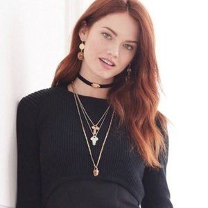 CAbi X The Giving Keys Tribute Necklace Set NEW